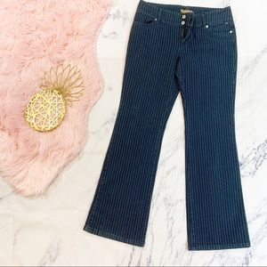 Tommy Hilfiger High Rise Pinstripe Flare Jean 13